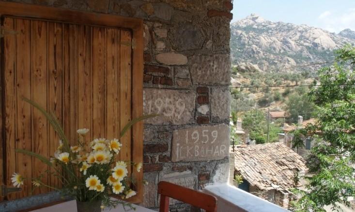 Blick von der Terrasse zum